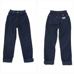 Wrangler vintage high rise straight jeans black 25